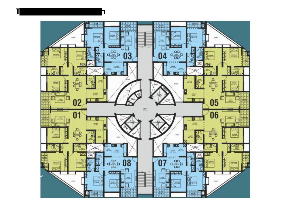 Northernsky City Tower B Typical Floor Plan